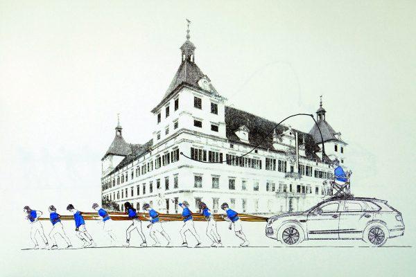 Traverso la Citta Rainer Prohaska Zeichnung Eggenberg