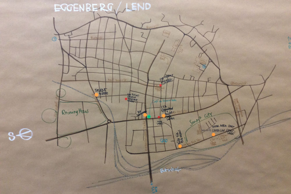 Die Stadt & Das Gute Leben Karte Eggenberg/Lend