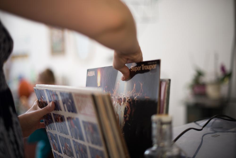 Grrrls Kulturverein gut aufgelegt Schallplatten