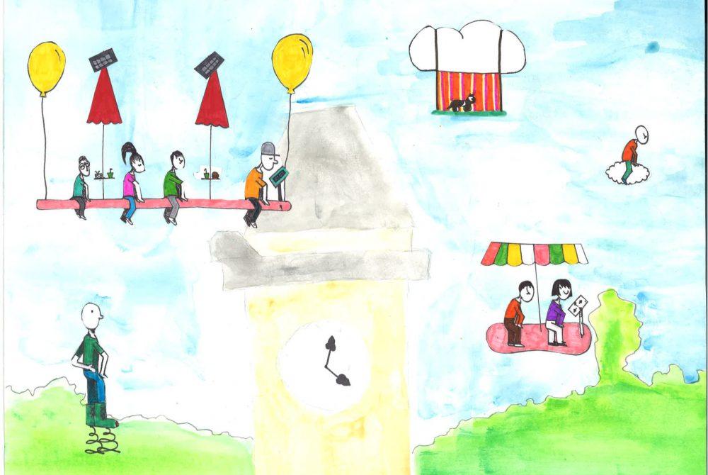 Kinderbüro Mobilität im urbanen Raum 4045 SchülerInnen Zeichnung