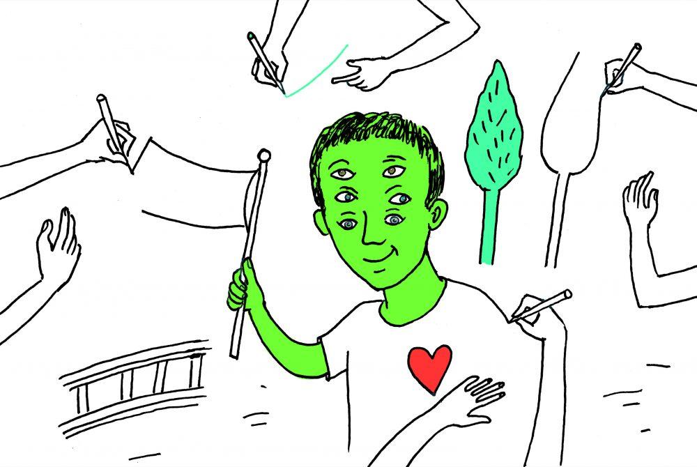 Zeichnung Friedenstische zeichnen Nicole Pruckermayr