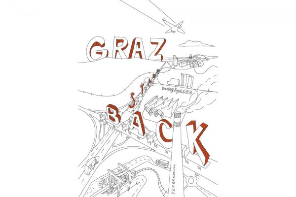 Tracing Spaces Graz Backstage Comiczeichnung