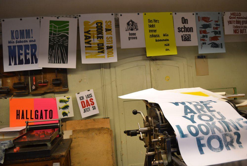 Verein Stadtteilprojekt Annenviertel Unsichtbares Handwerk im Annenviertel Plakatdrucke
