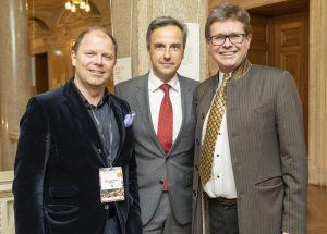 Bernhard Rinner, Siegfried Nagl, Martin Polaschek / © Foto Fischer/Stadt Graz