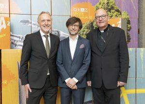 Günter Riegler, Christian Mayer, Christian Leibnitz (Katholische Kirche Steiermark) / © Foto Fischer/Stadt Graz
