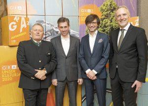 Wolfgang Malik (Holding Graz), Werner Ressi (Energie Graz), Christian Mayer, Günter Riegler / © Foto Fischer/Stadt Graz