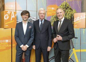 Christian Mayer, Gerhard Fabisch (Steiermärkische Sparkasse), Günter Riegler / © Foto Fischer/Stadt Graz