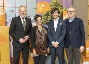 Günter Riegler, Heidrun Primas, Christian Mayer, Otto Hochreiter / © Foto Fischer/Stadt Graz