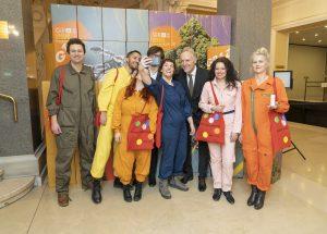 Akteurinnen und Akteure des Grazer Kunstverein mit Christian Mayer, Günter Riegler / © Foto Fischer/Stadt Graz