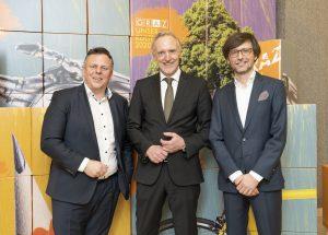 Michael Ehmann, Günter Riegler, Christian Mayer / © Foto Fischer/Stadt Graz