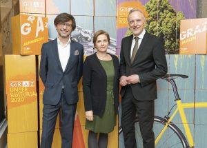 Christian Mayer, Judith Schwentner, Günter Riegler / © Foto Fischer/Stadt Graz