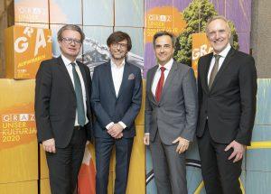 Christopher Drexler, Christian Mayer, Siegfried Nagl, Günter Riegler / © Foto Fischer/Stadt Graz