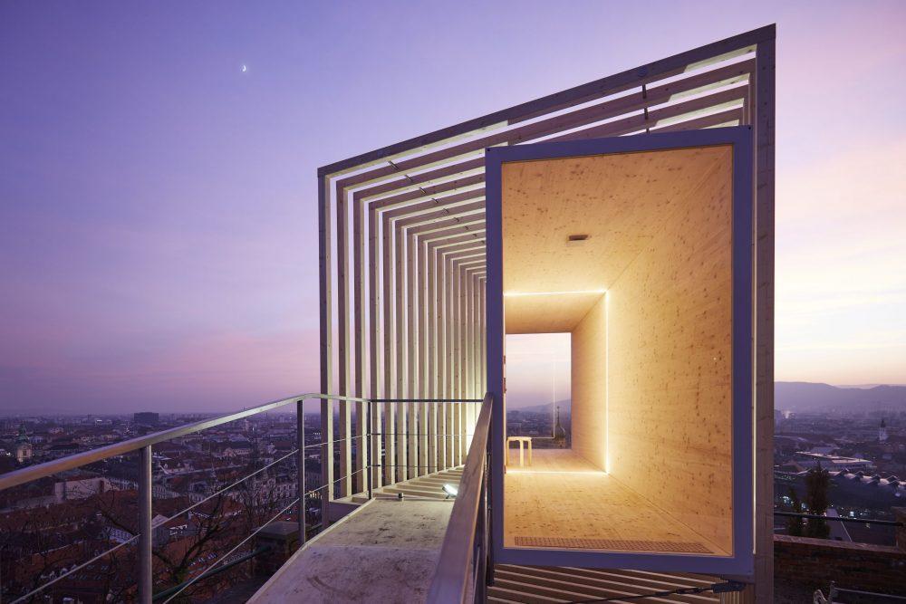 La Strada im Kulturjahr 2020; The Vigil; Ausblick bei Nacht