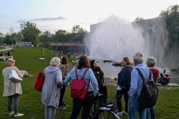 Graz Guides Augartenbucht Wasserfontäne