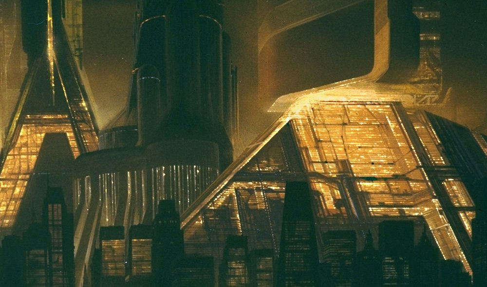 Graz Museum Syd Mead - Future Cities Downtown Cityscape Blade Runner