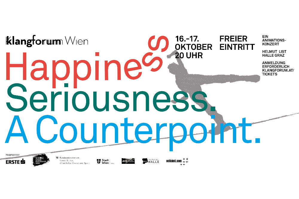 Klangforum Wien Happiness Seriousness A Counterpoint Animationskonzerte Plakat