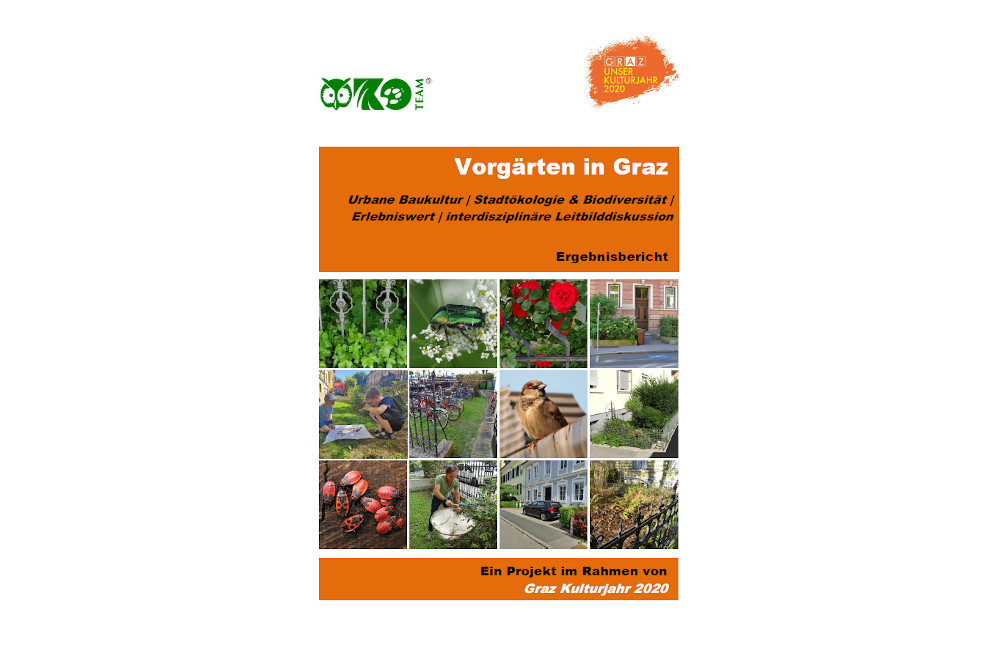 Vorgärten in Graz Ökoteam Ergebnisbericht Cover